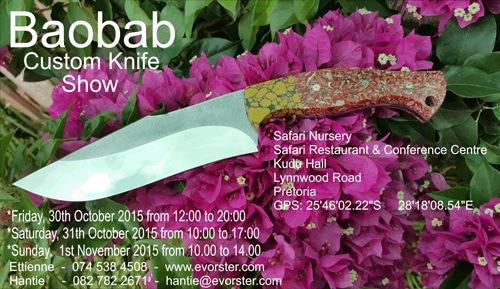 Baobab Custom Knife Show 2015
