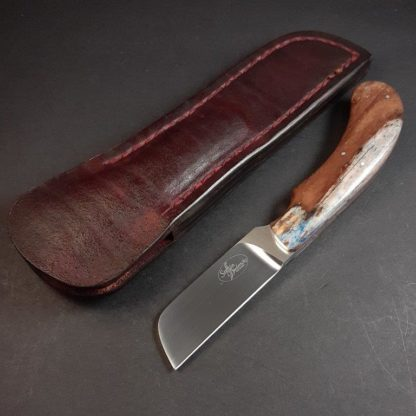 3A SOLD No 3. Biltong Knife - N690 & Giraffe Bone  1