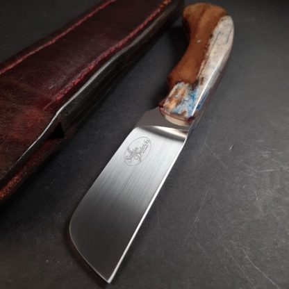3B SOLD No 3. Biltong Knife - N690 & Giraffe Bone  5