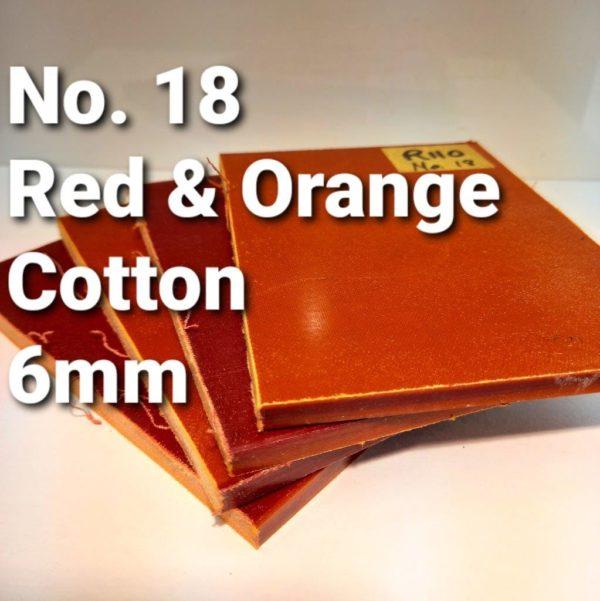 No 18 Red Orange Cotton 6mm MICARTA 3