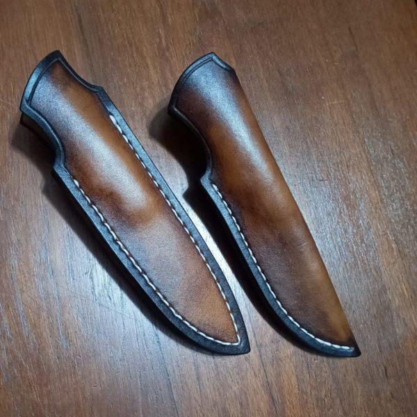 Leather Dressing Finish on sheaths